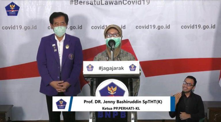 Sambutan Ketua PERHATI-KL dalam penerimaan bantuan APD dari BNPB Gugus Tugas Percepatan Penanganan COVID-19